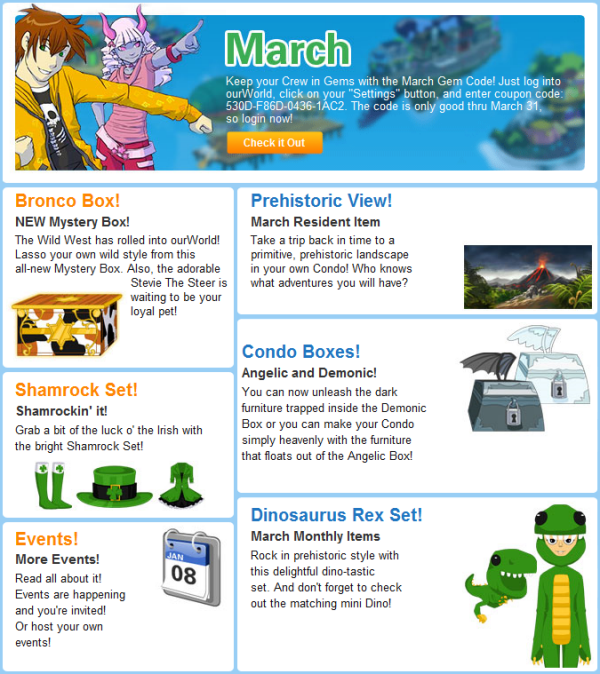 March 2011 Newsletter