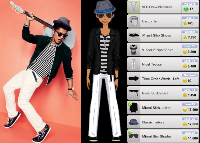 Bruno Mars Outfit | ourGemCodes