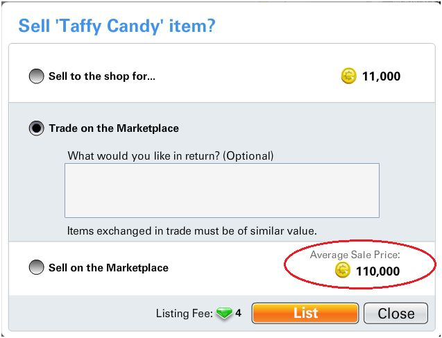 Average Candy Price Fixed
