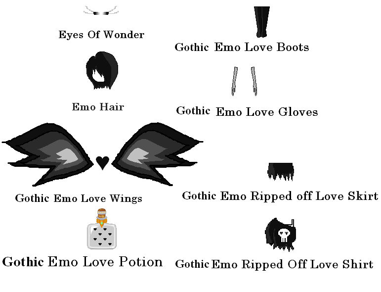 ourWorld Designs: Gothic Emo outfit | ourWorld Gem Codes