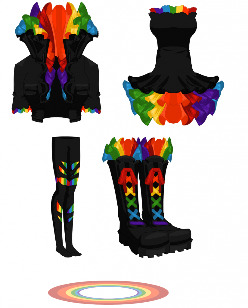 Rainbow Box - Female Outfit 001