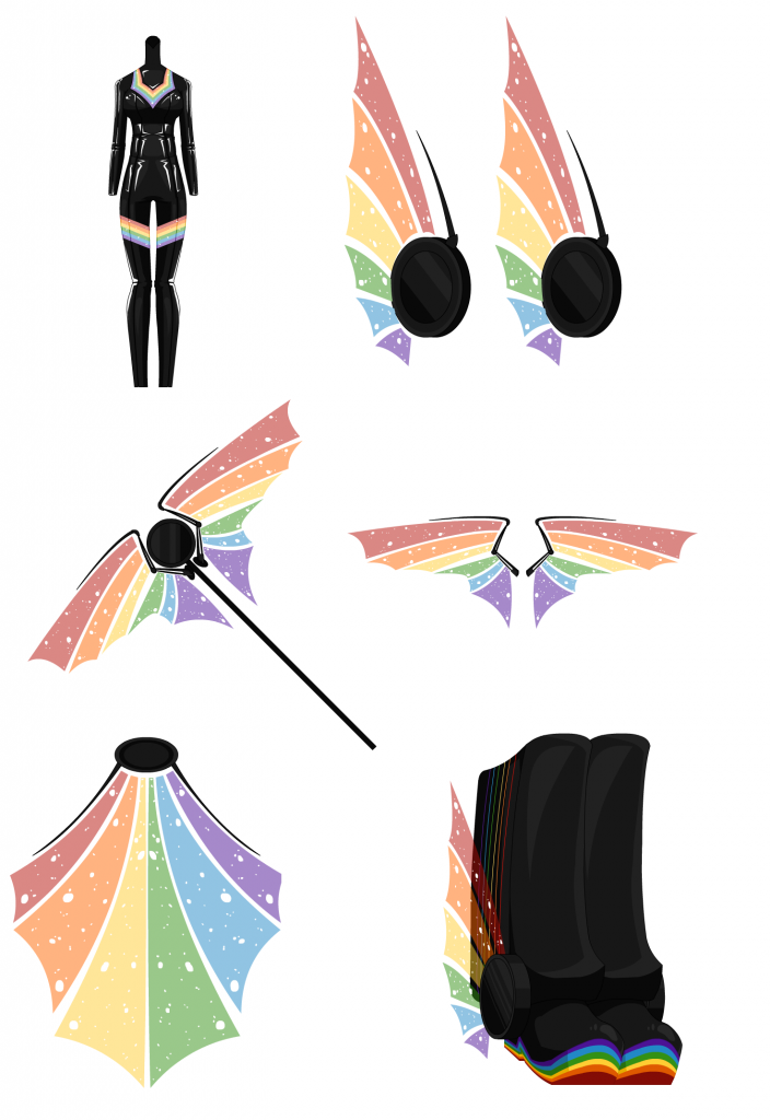 Rainbow Box - Female Outfit 007