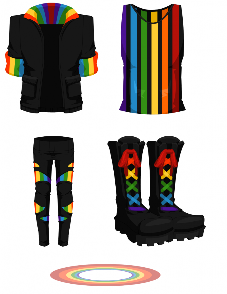 Rainbow Box - Male Outfit 001