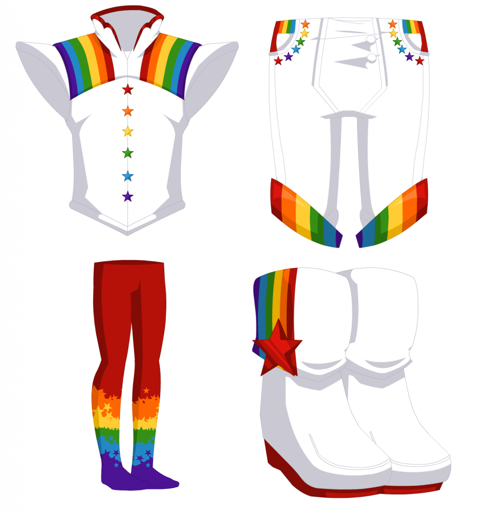 Rainbow Box - Male Outfit 006