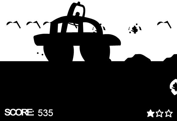 The Black White Car Game 62