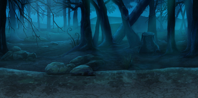 haunted forest view