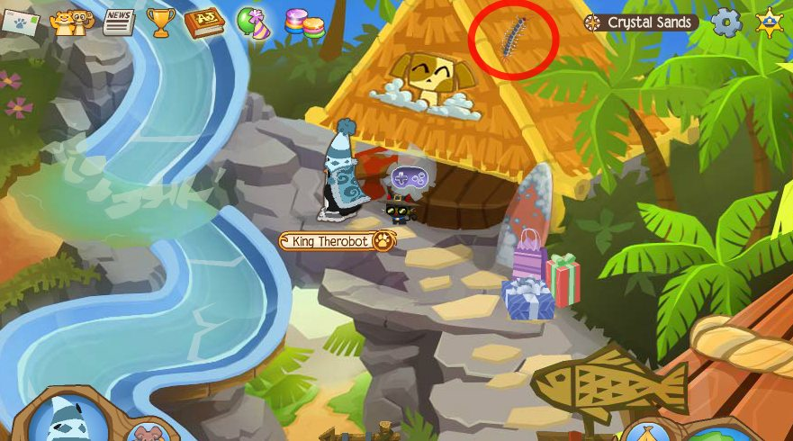 Animal Jam Crystal Sands Journey Book Locations on Locations Top Bottom