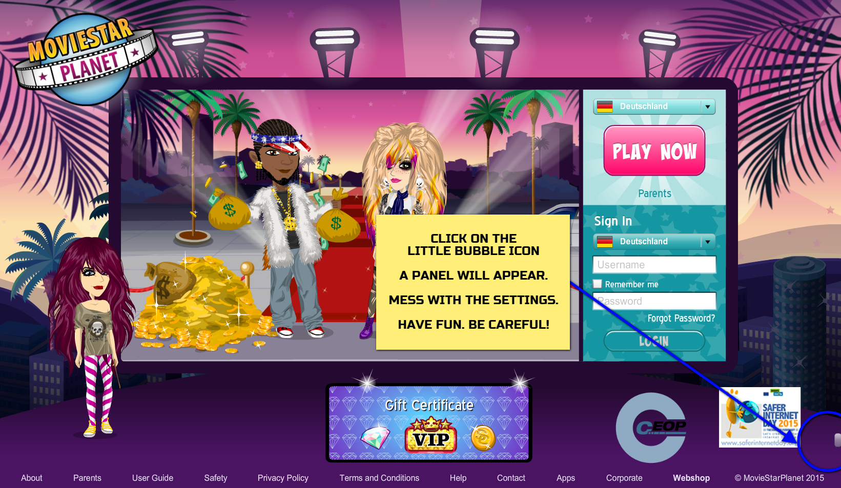 cheats for movie star planet