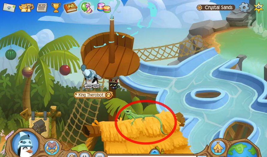 Image of: Music Iguana Ourgemcodes Animal Jam Crystal Sands Journey Book Locations Ourgemcodes