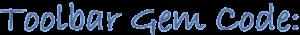 Toolbar Gem Code - darker blue